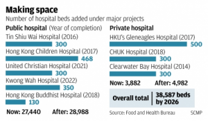 Hong Kong Hospital Capacity by 2022